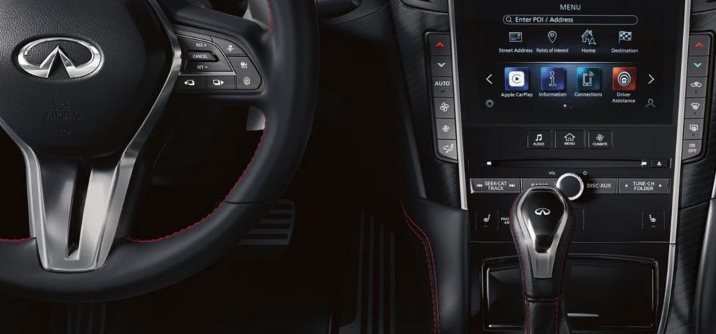 2021 Infinti Q60 interior