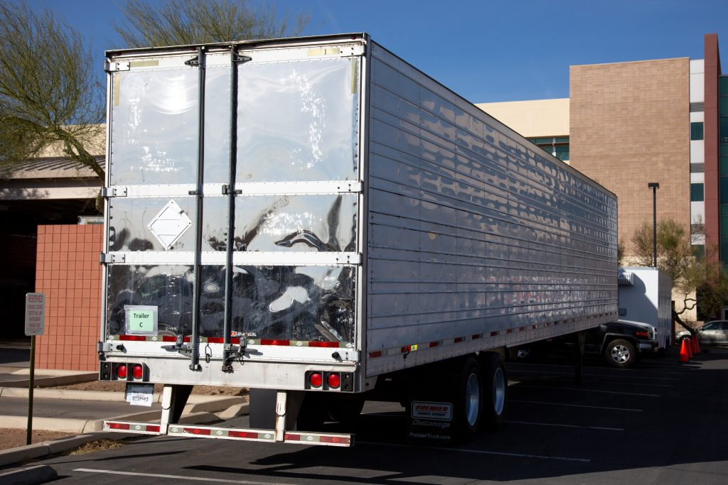 Semi Trailer Not Attached To Truck