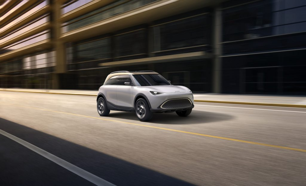 A rendering of the Smart Concept #1 SUV
