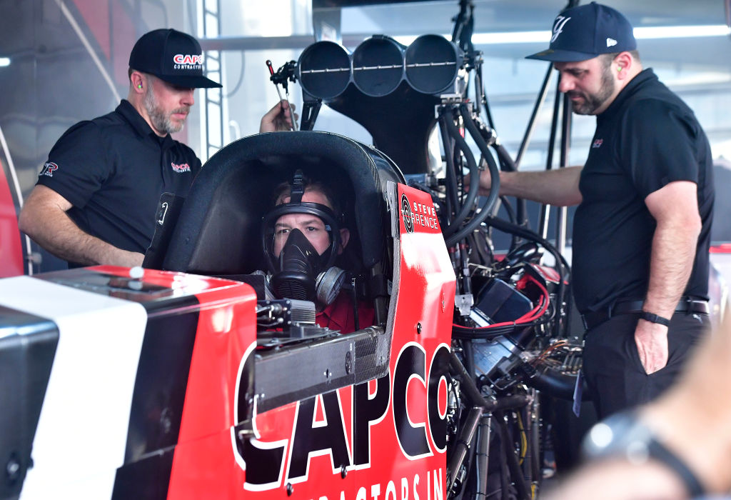 Steve Torrence in Capco Top Fuel dragster