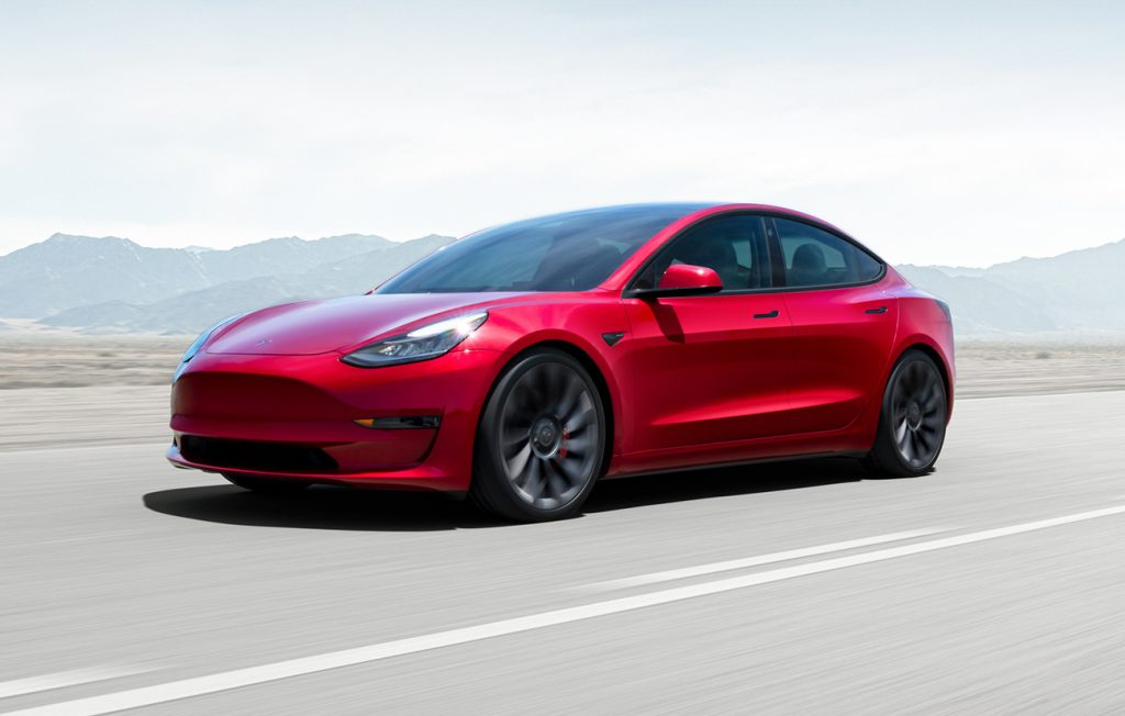 A Tesla crash in Florida involved a Model 3 similar to the one pictured here.