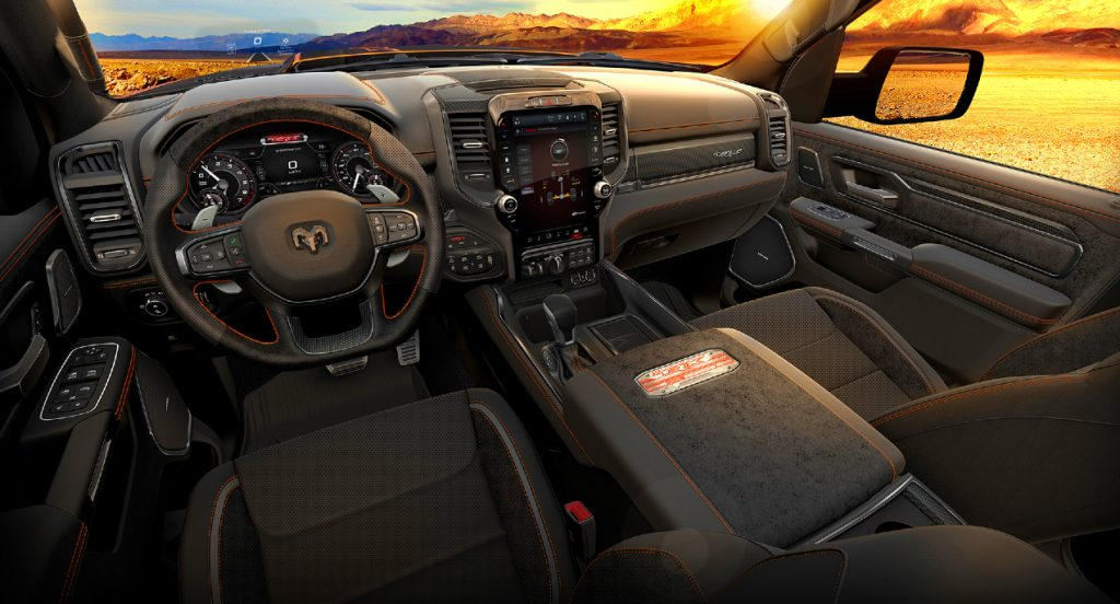 The 2022 Ram 1500 TRX Ignition Edition interior.