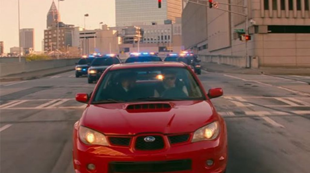 The 2006 Subaru WRX in Sony Pictures' Baby Driver. This is one of several Baby Driver Subaru cars produced for filming, including a rare RWD WRX and a de-badged STI | Youtube