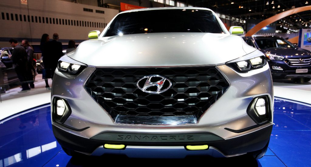 Hyundai Santa Cruz Crossover Truck Concept at the 107th Annual Chicago Auto Show at McCormick Place in Chicago, Illinois on FEBRUARY 13, 2015.