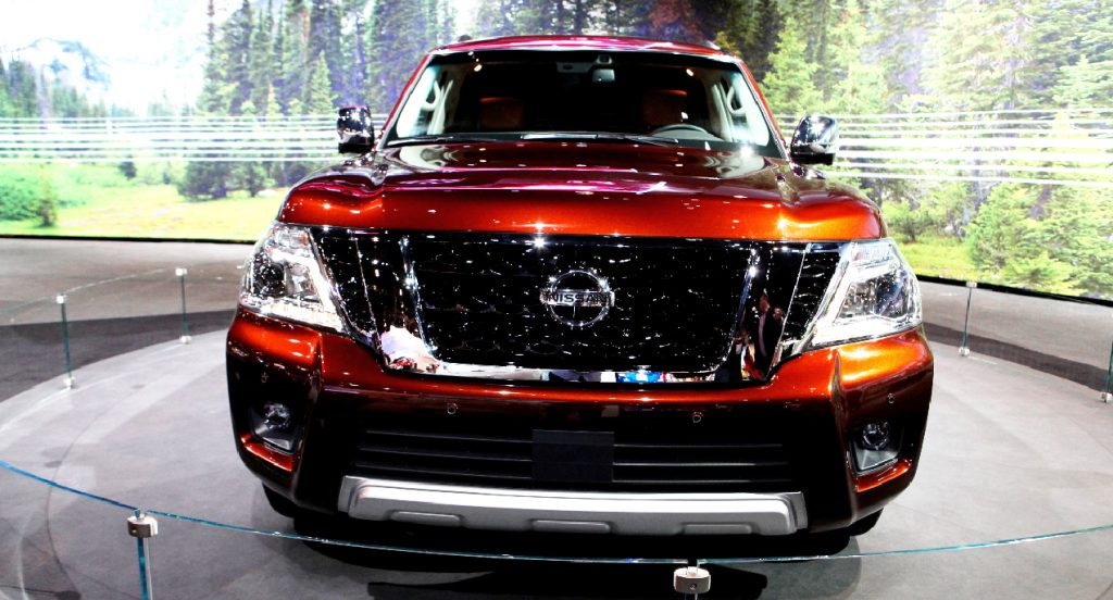 An orange Nissan Armada is on display at the 108th Annual Chicago Auto Show at McCormick Place in Chicago, Illinois on February 12, 2016.