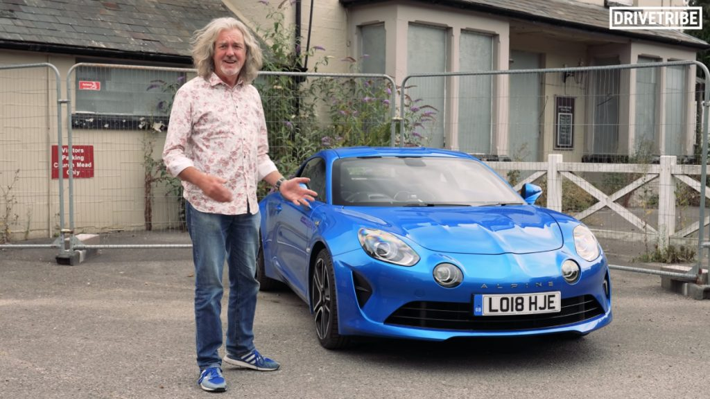 James May on the Alpine A110