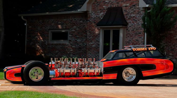 Tommy Ivo Wagon Master exhibition dragster side