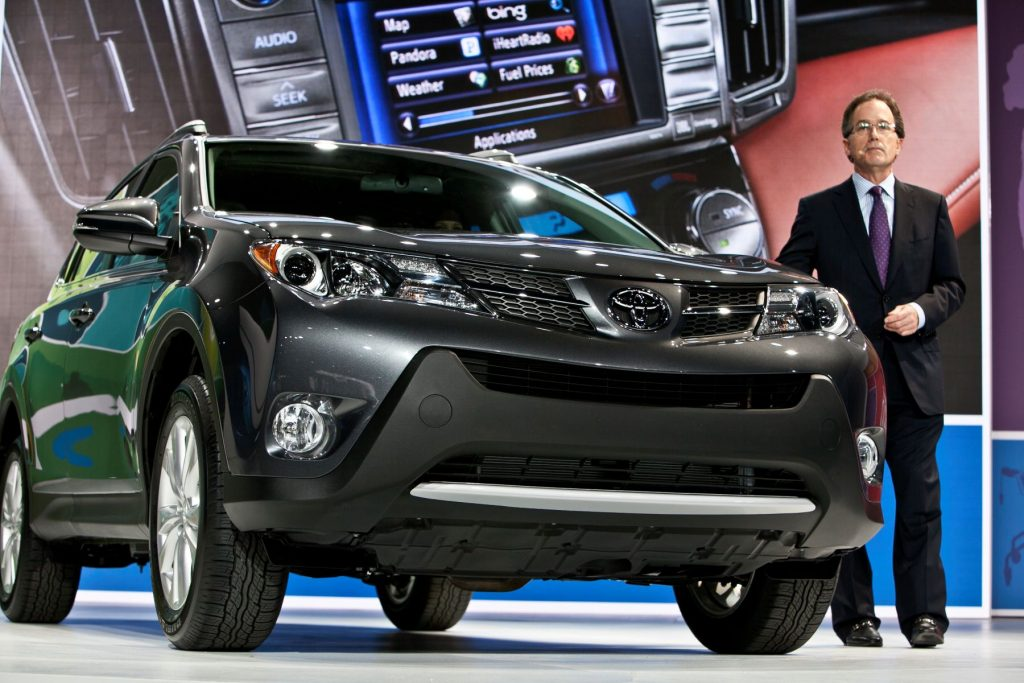 The Toyota RAV4 redesign debut at the LA Auto Show at the city's convention center