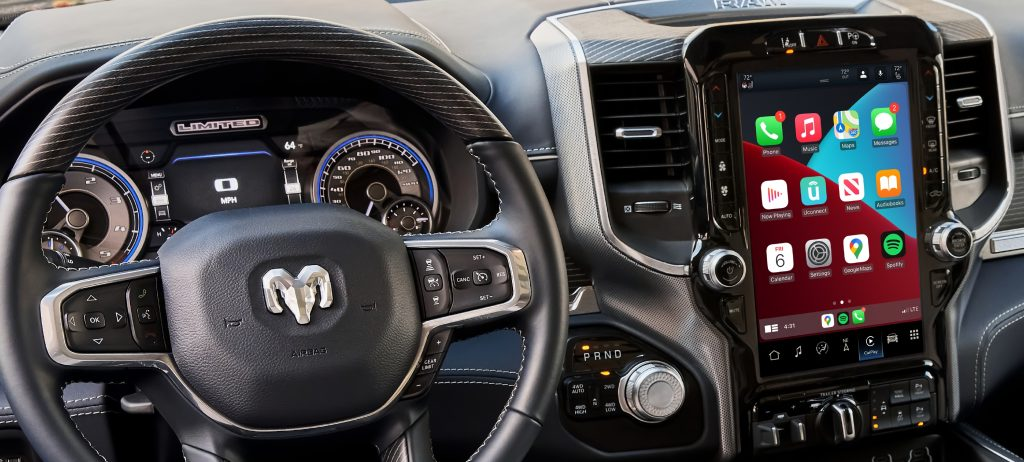 Uconnect 5 infotainment system in a Ram Truck