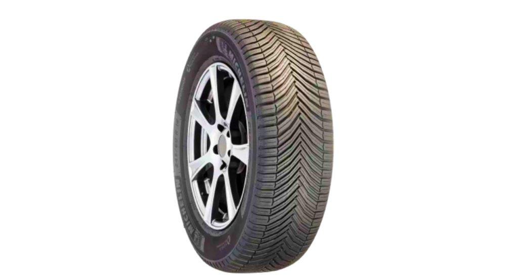 A black Michelin CrossClimate SUV tire.