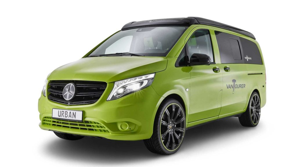 VanTourer Urban is the newest small camper van concept and it is finished in a noteworthy neon green