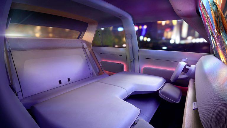 The interior of a Volkswagen Id.Life concept electric mini-suv