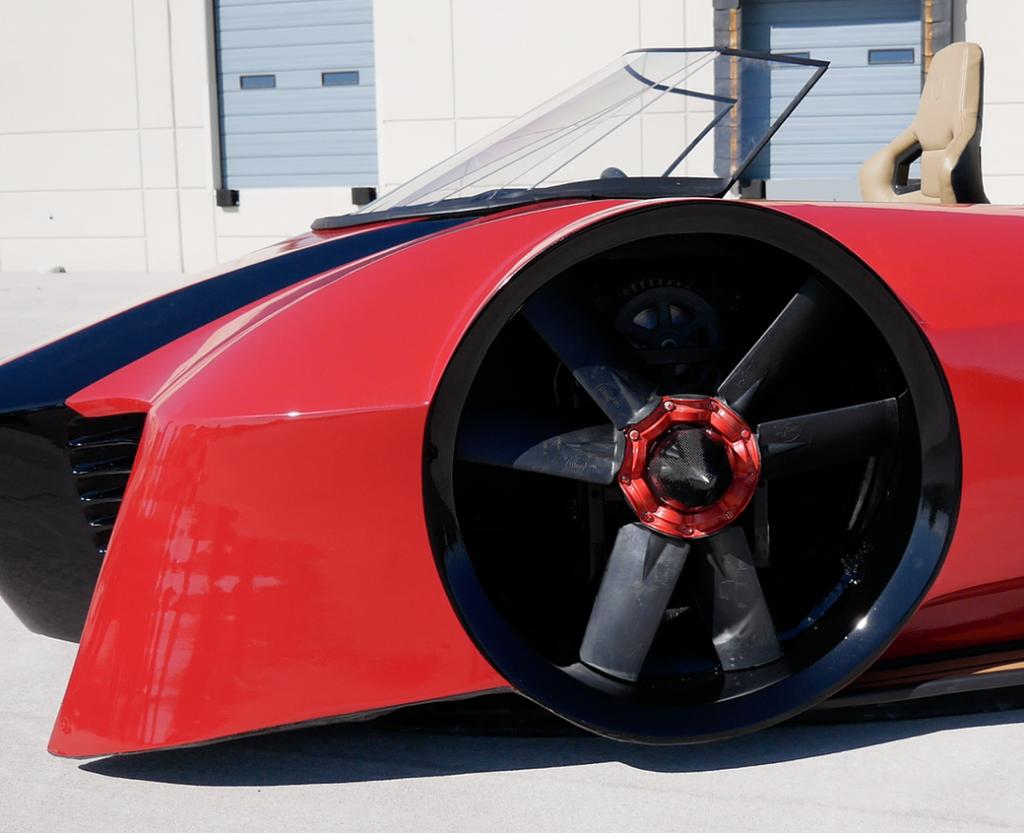 VonMercier Arosa hovercraft car detail
