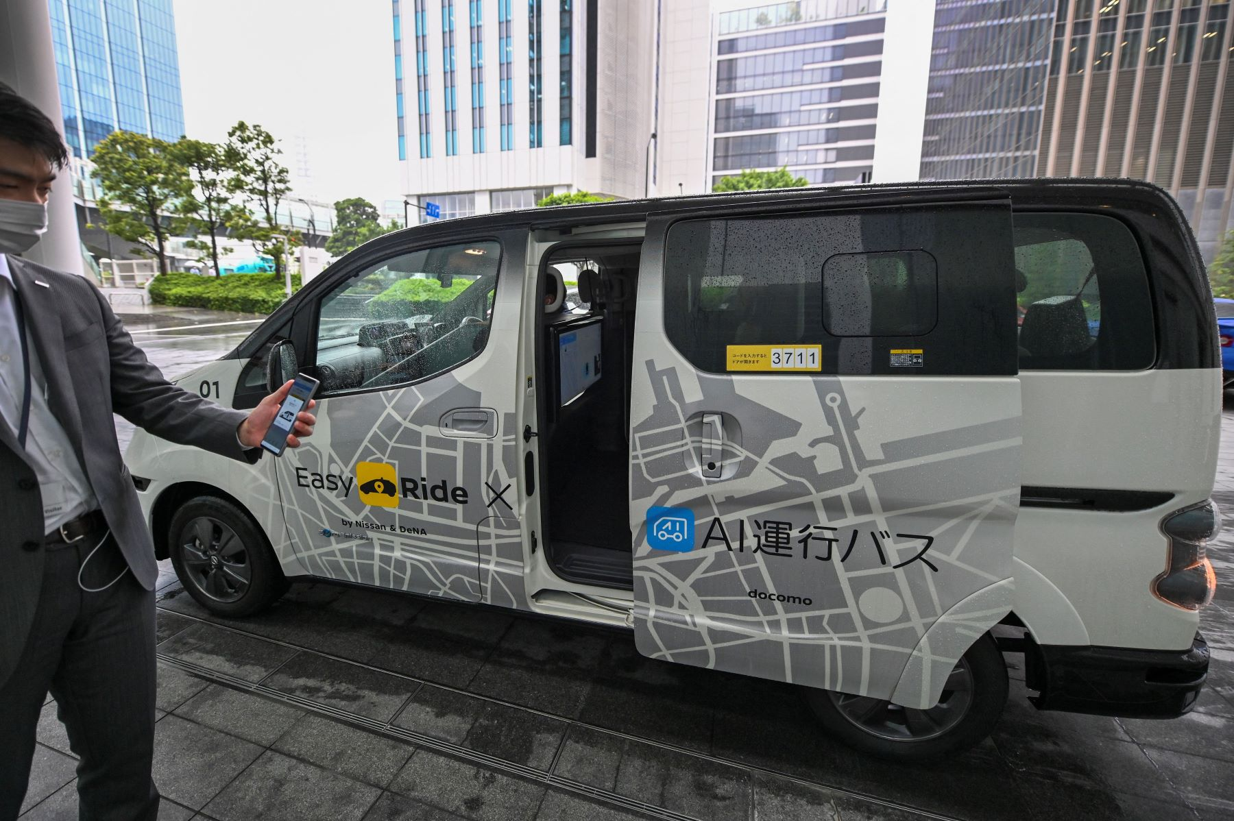 Nissan autonomous self-driving vehicle debut during press preview and operations test in Yokohama, Kanagawa Prefecture, Japan