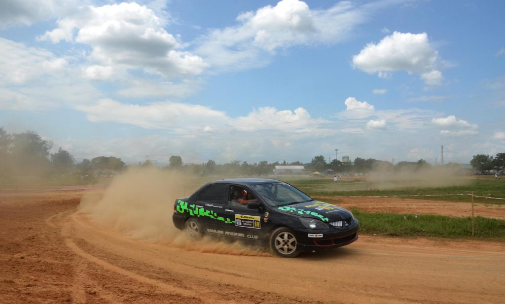 A participant drives his car at the Dimapur Autocross 2016 at Dimapur, India northeastern state of Nagaland
