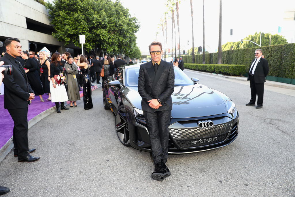 """Robert Downey Jr. attends Audi Arrives At The World Premiere Of """"Avengers: Endgame"""" with the Audi e-tron GT"""