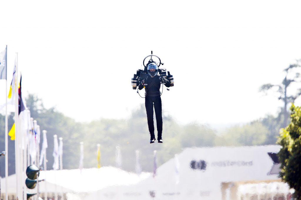 a man testing a jetpack.