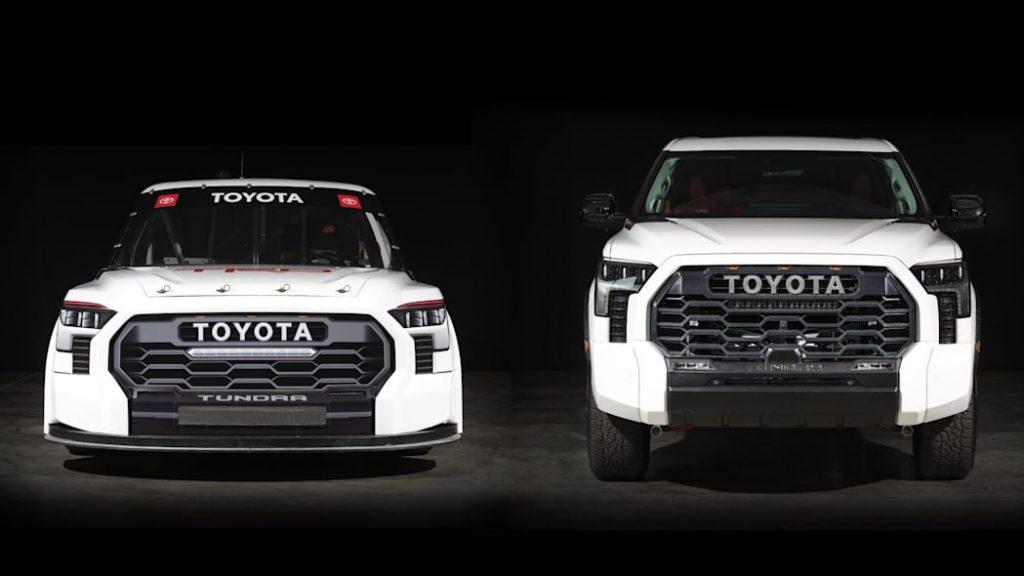 2022 Toyota Tundra NASCAR truck and production model