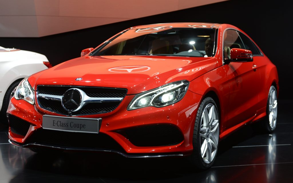 The Mercedes-Benz E-class Coupe is introduced at the 2013 North American International Auto Show