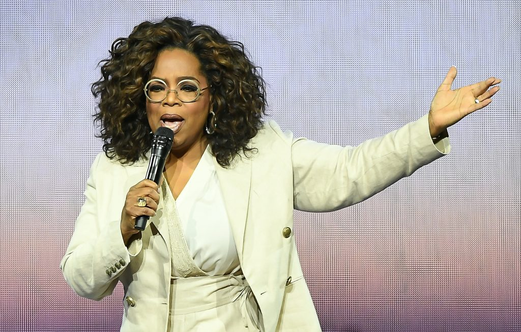 Oprah Winfrey speaks during Oprah's 2020 Vision: Your Life in Focus Tour presented by WW.