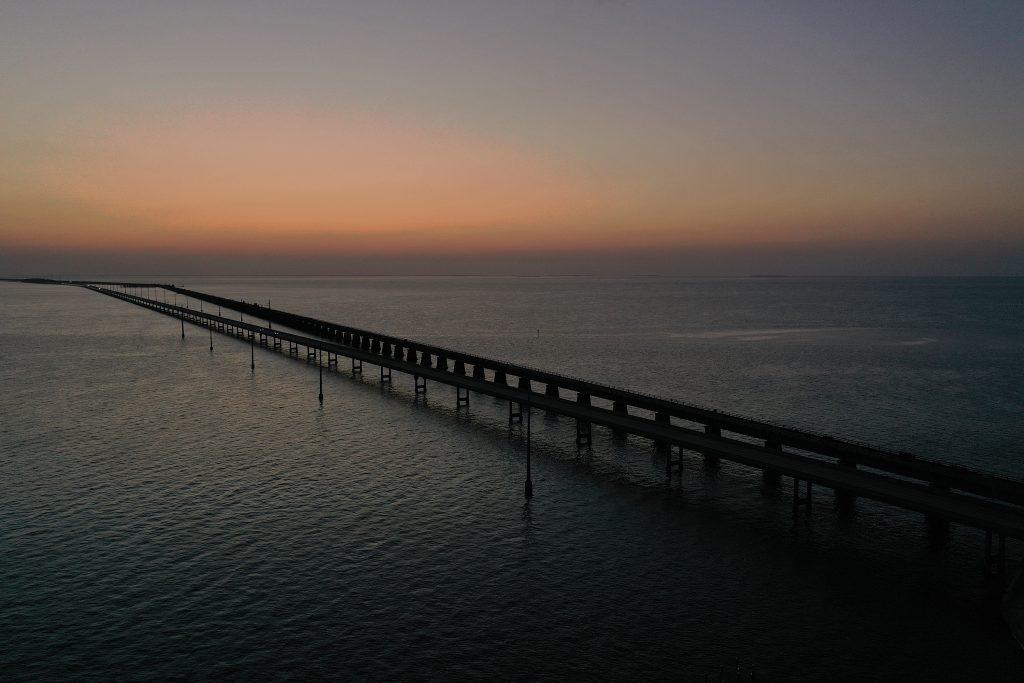 Seven mile bridge in Key West, Florida