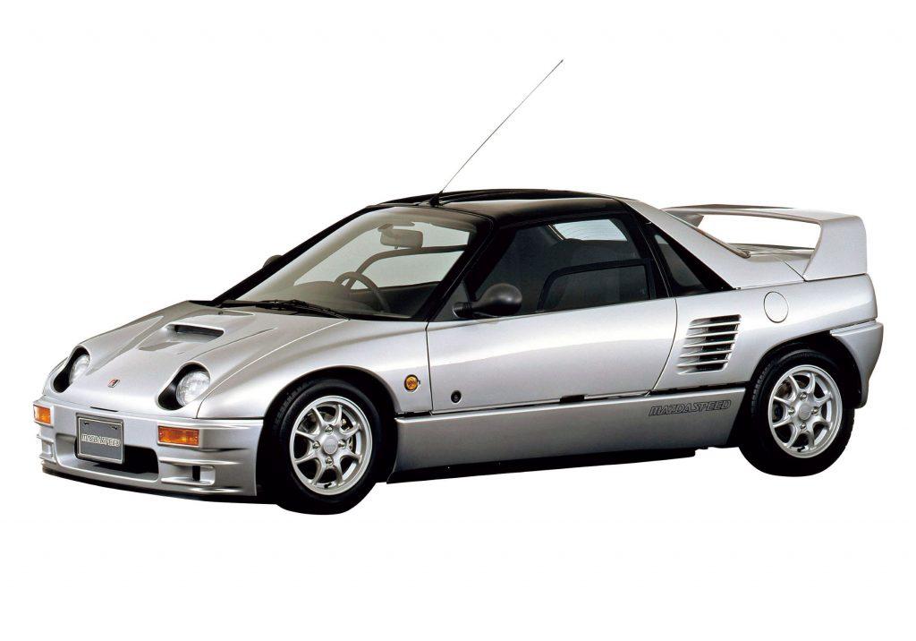 A silver 1993 Autozam AZ-1 Mazdaspeed