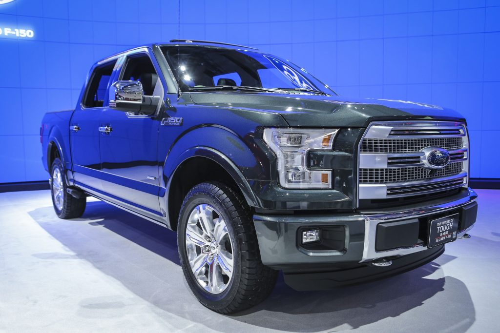 A 2015 Ford F-150 at an auto show