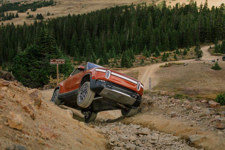 2022 Rivian R1T off-roading