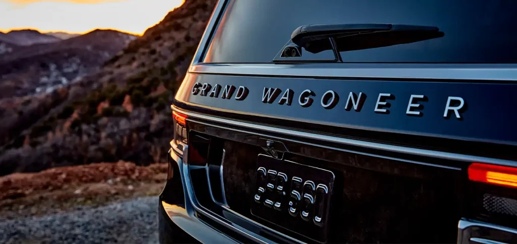 The back of a 2022 Jeep Grand Wagoneer.