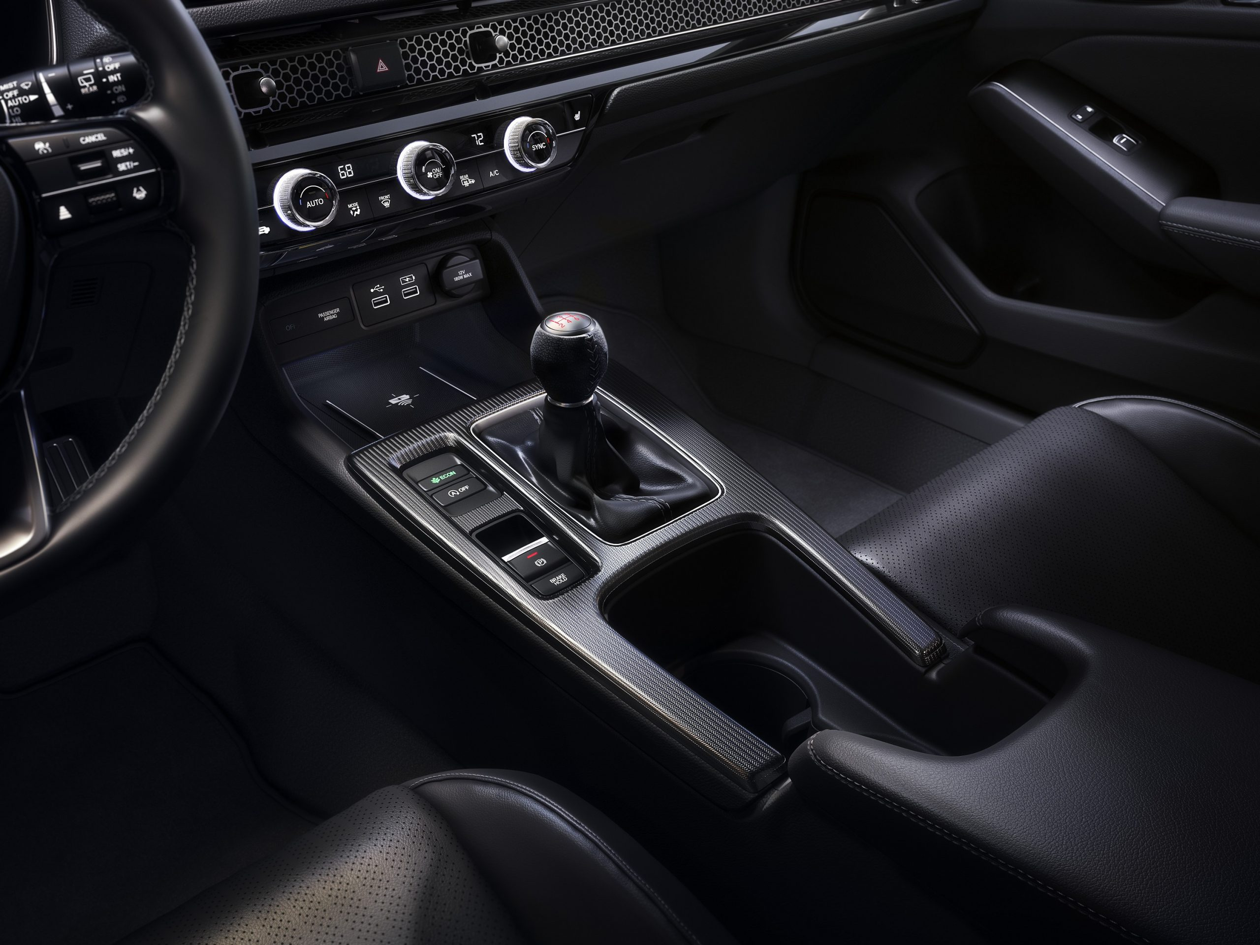 The manual transmission in the 2022 Honda Civic