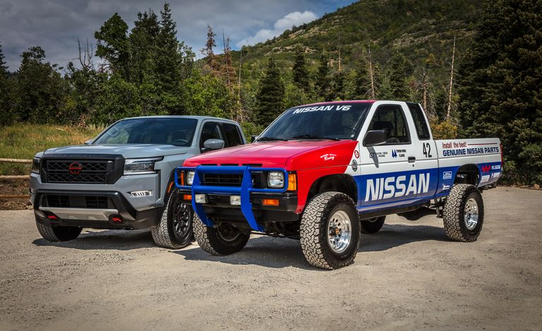 2022 Nissan Frontier and classic Hardbody