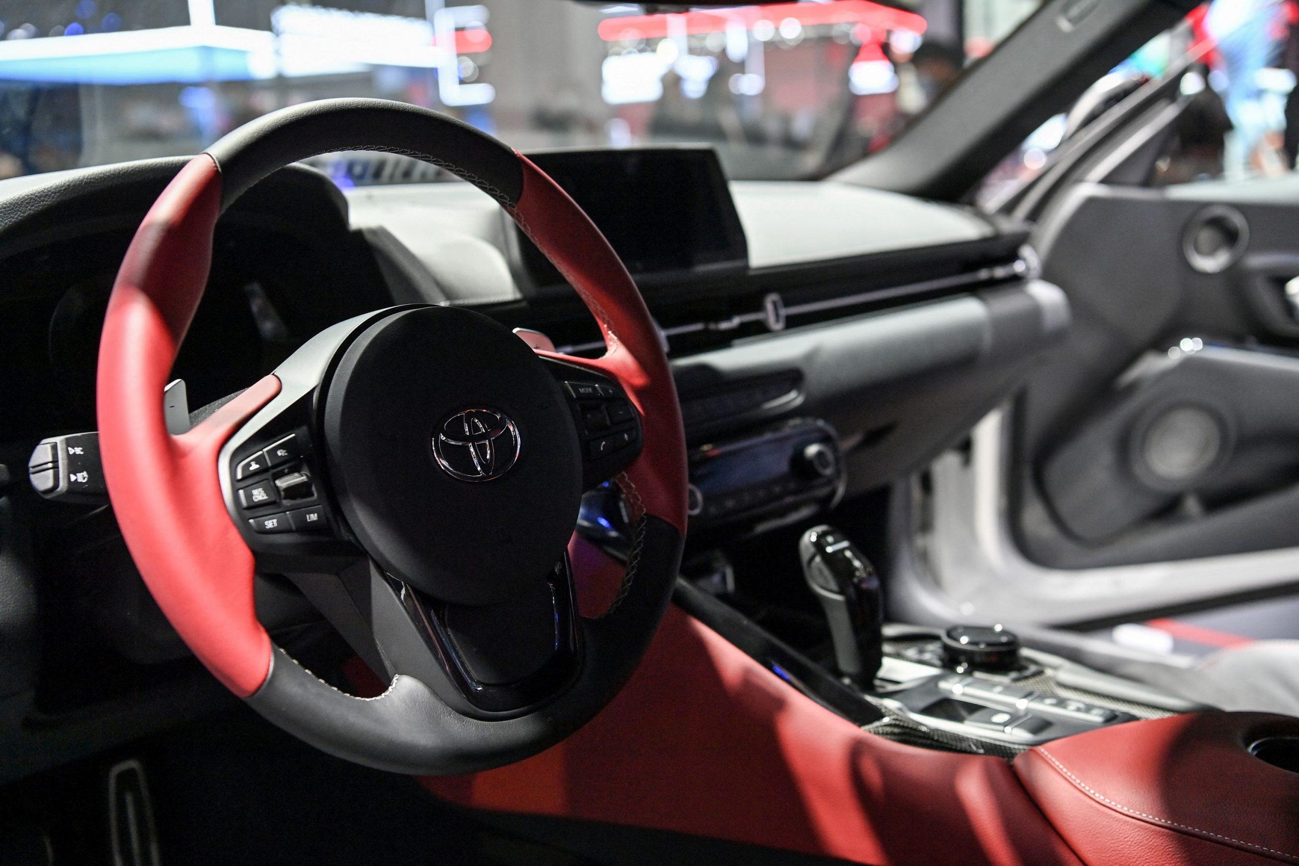 The interior of the new Toyota Supra