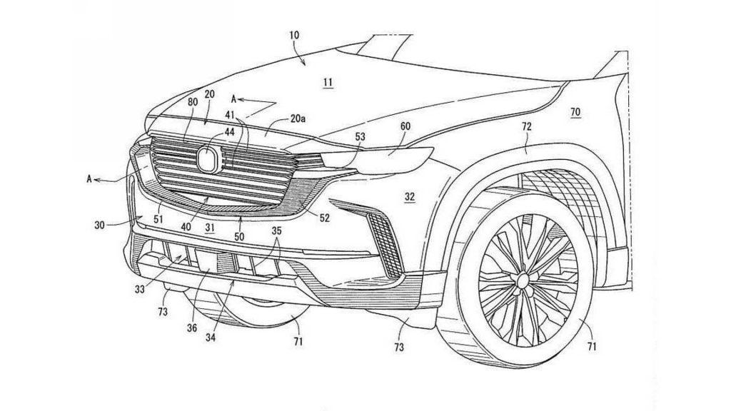 A 2023 Mazda CX-50 Design Patent Image leaked