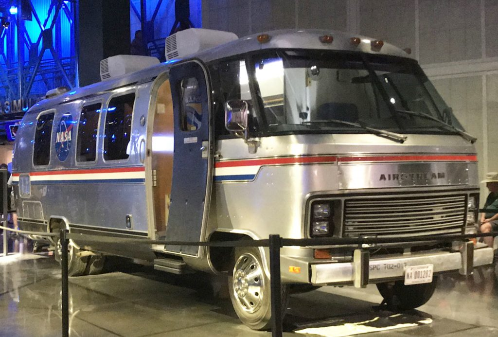 Airstream Astrovan on display at the Kennedy Space Center