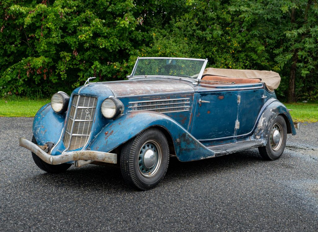 Mike Wolfe from American Pickers bought this blue Aubrun 653 convertible