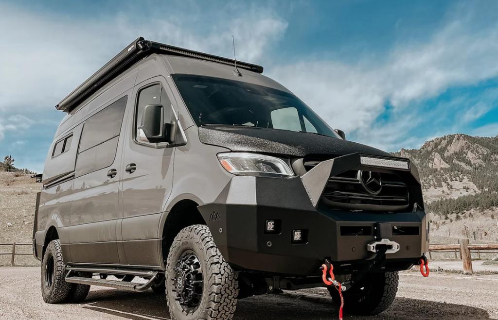 A modified Mercedes Sprinter van by Boulder Campervans