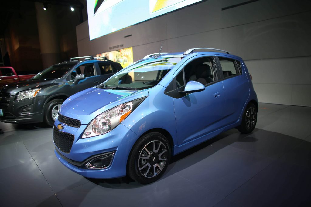 The Chevy Spark full-electric at the Canadian International Auto Show