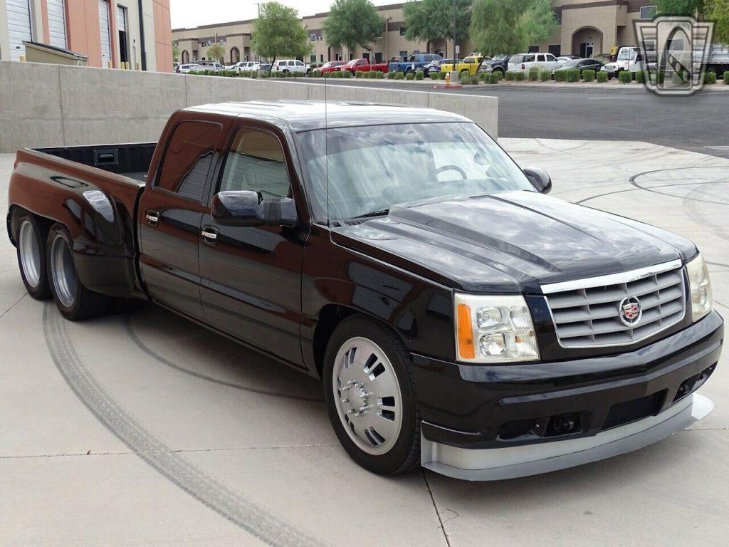 Dual-dually Cadillac Escalade custom pickup