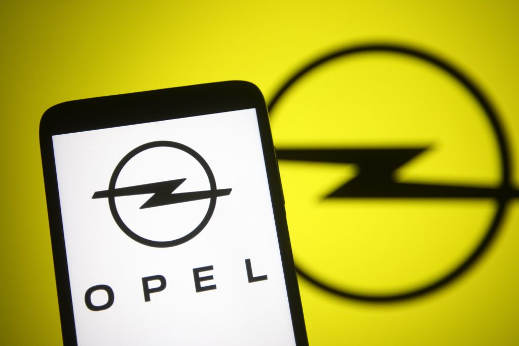 The Opel logo, owned by Stellantis