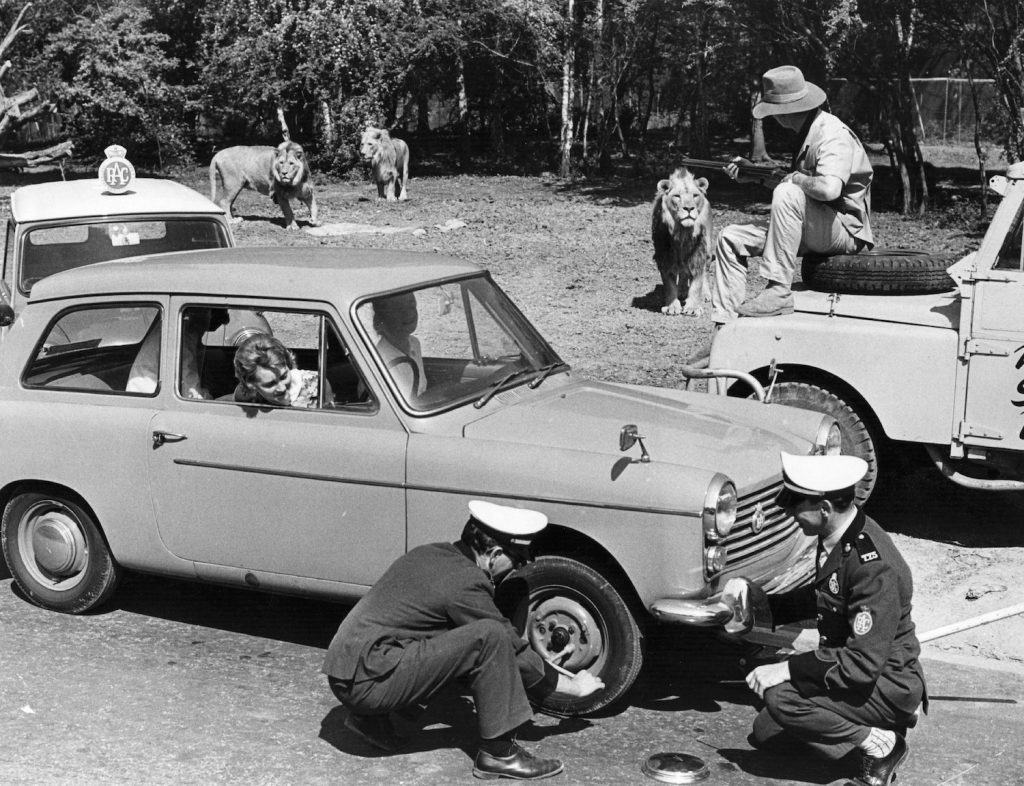 A man changes a tire in the Lion enclosure in Windsor Safari Park in 1970. Slow leaks have always been an annoying problem, but you can use soap to find a slow tire leak or valve stem leak.   Central Press/Getty Images