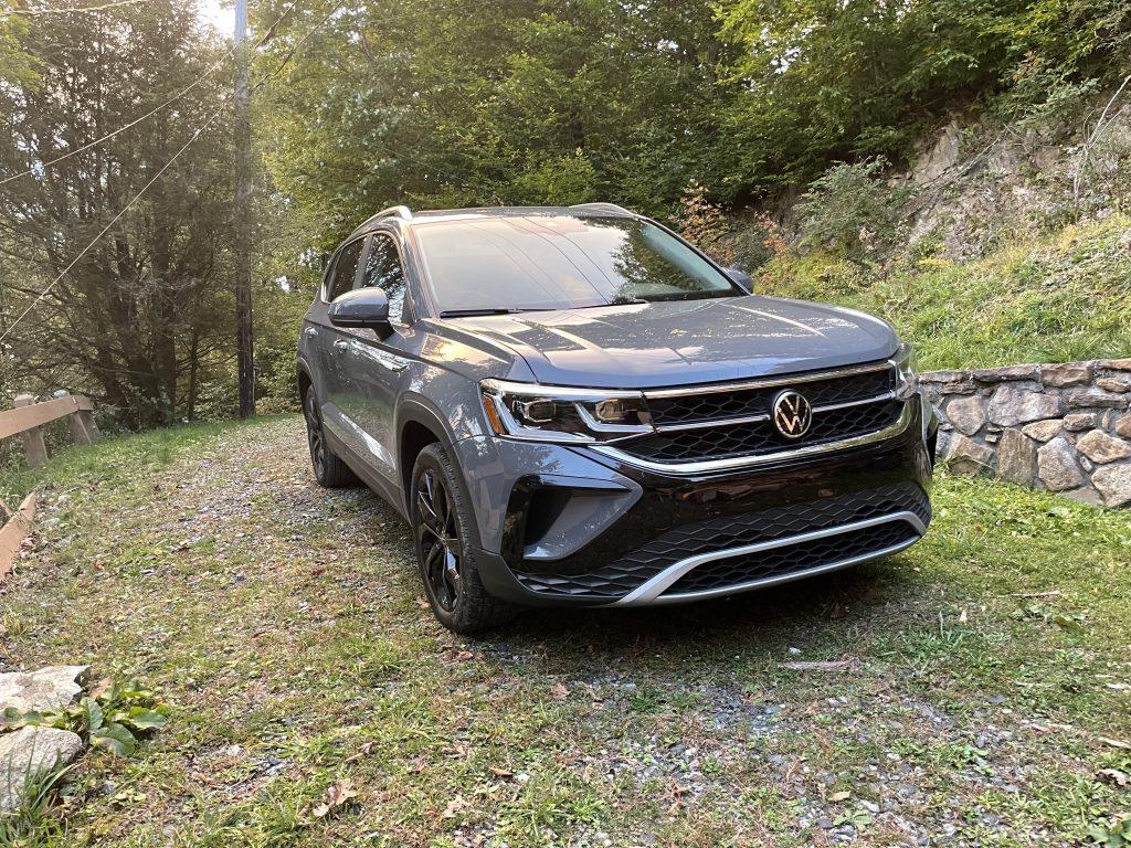 2022 Volkswagen Taos on a gravel road