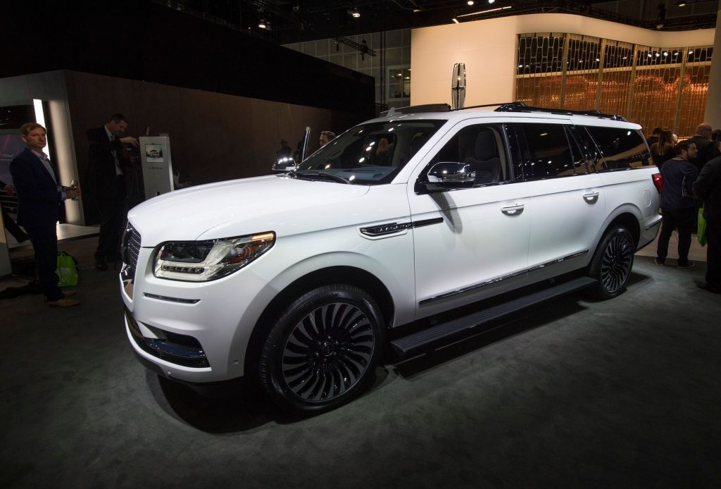 The 2020 Lincoln Navigator L SUV is on display at the 2019 Los Angeles Auto Show in Los Angeles.