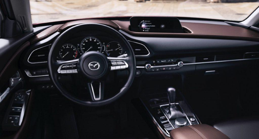 The 2021 Mazda CX-30 interior.