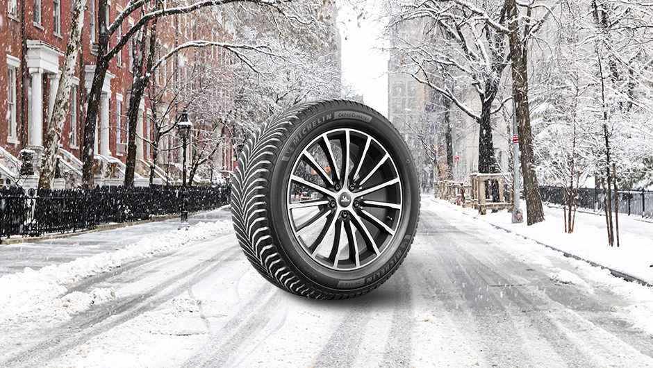 a Michelin CrossClimate 2 shown in the snow