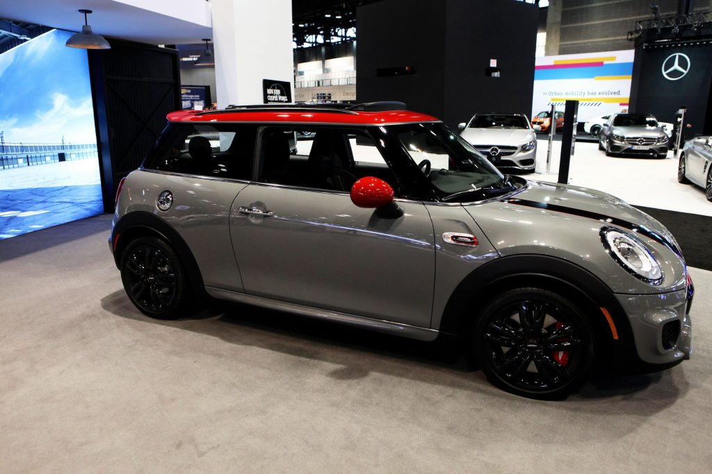 2016 Mini John Cooper Works Hardtop is on display at the 108th Annual Chicago Auto Show at McCormick Place in Chicago, Illinois.