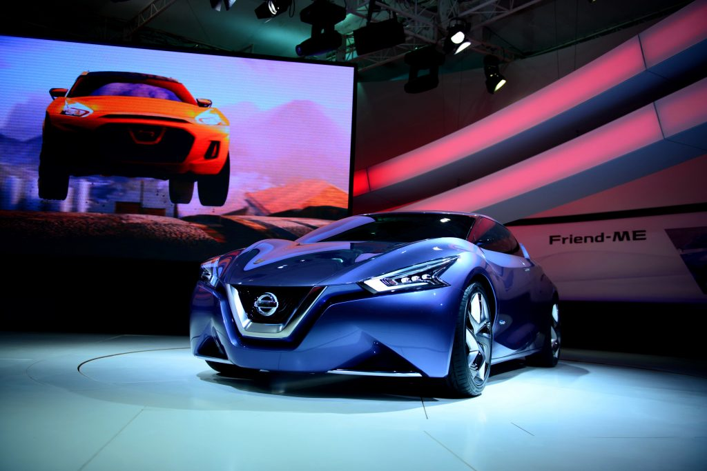 The Nissan Friend-Me concept from the Auto Expo in Indiana in 2013