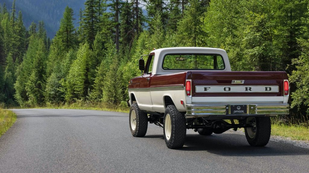 Vintage 1969 Ford F-100 truck parked on a road