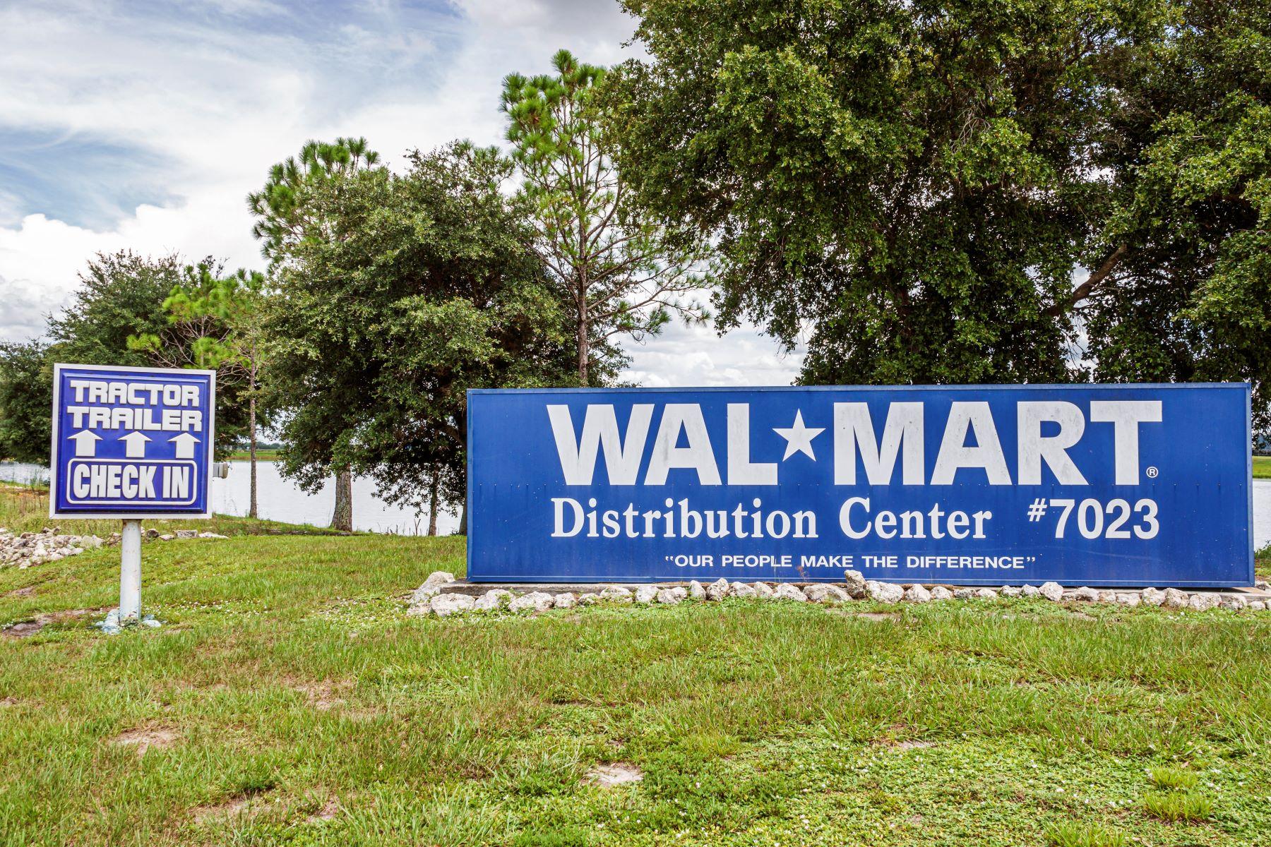 A Walmart distribution center in Arcadia, Florida